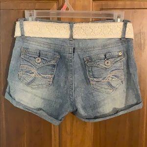 Wallflower Shorts - Medium Wash Denim Shorts